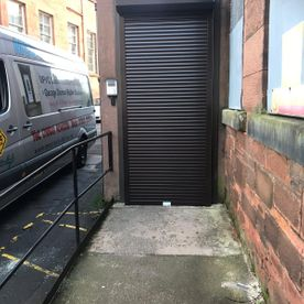 Brown shutter door